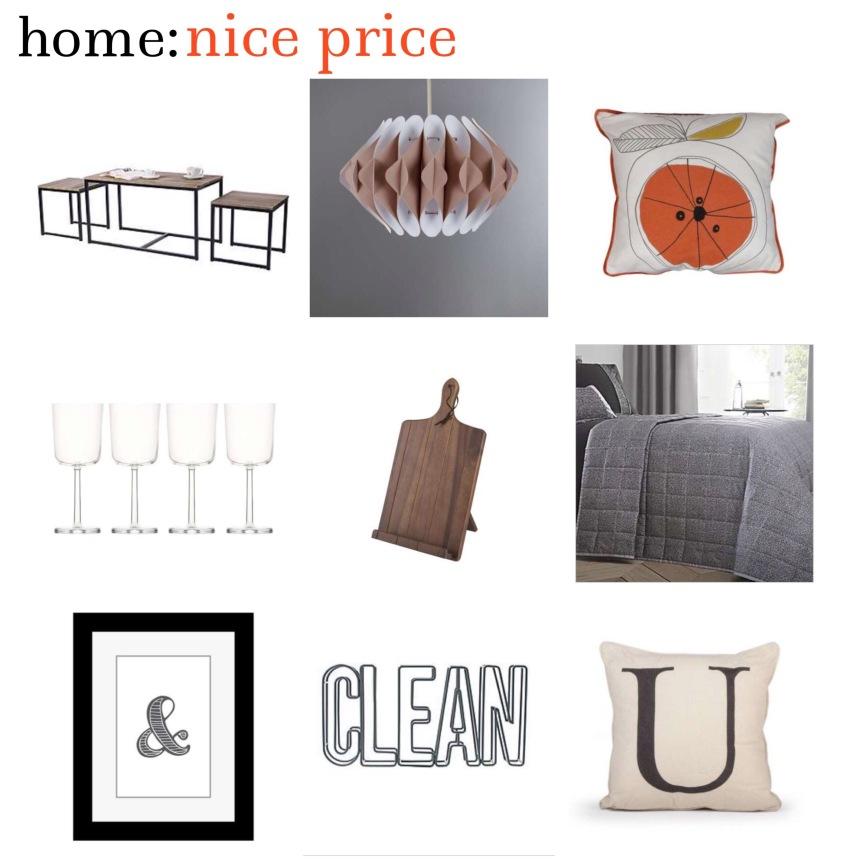 home: nice price [ Dunelm sale ]