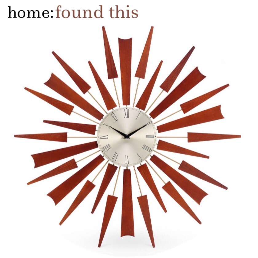 home: found this [ sunburst clock ]