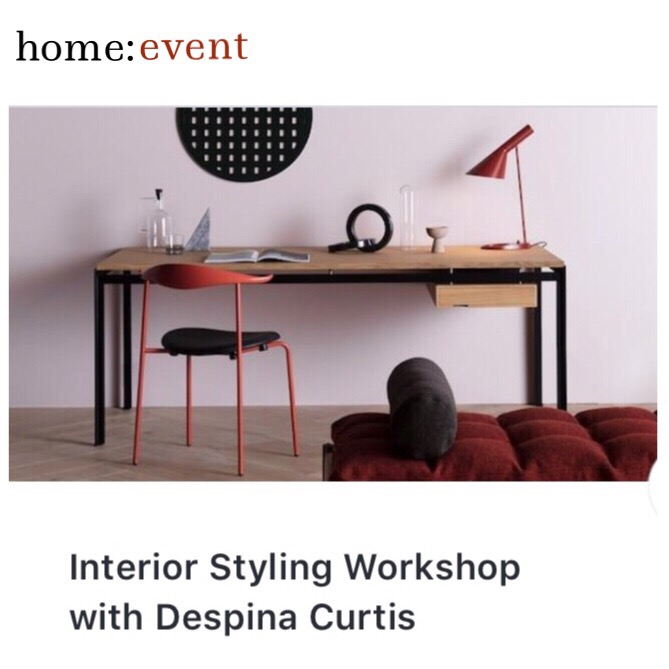 home: event [ interiors styling workshop ]