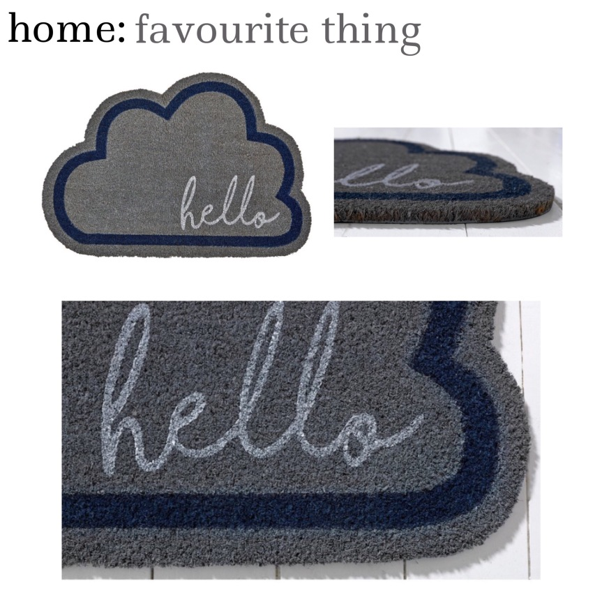 home: favourite thing [ door mat ]