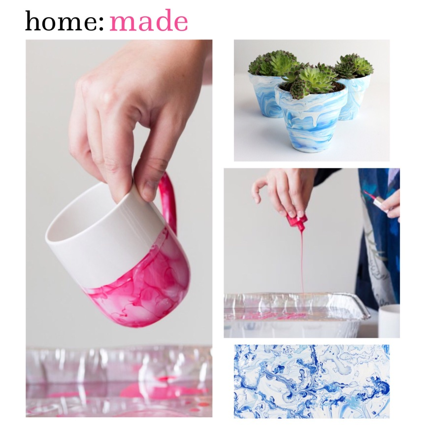 home: made [ diy marbling ceramics ]
