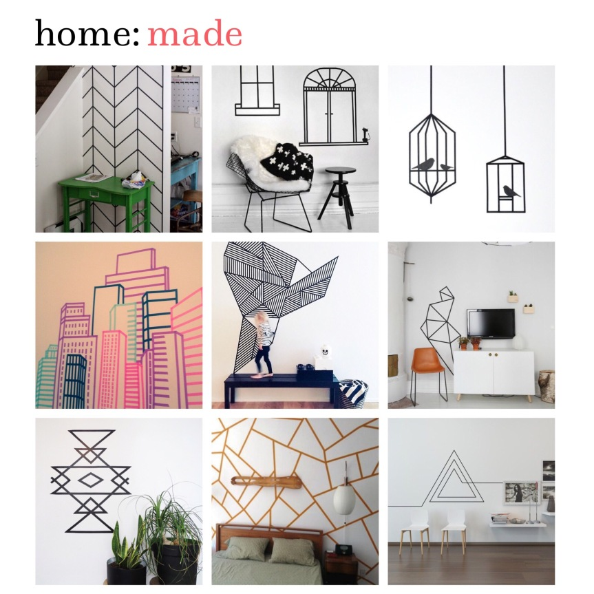 home: made [ washi tape wall design ]