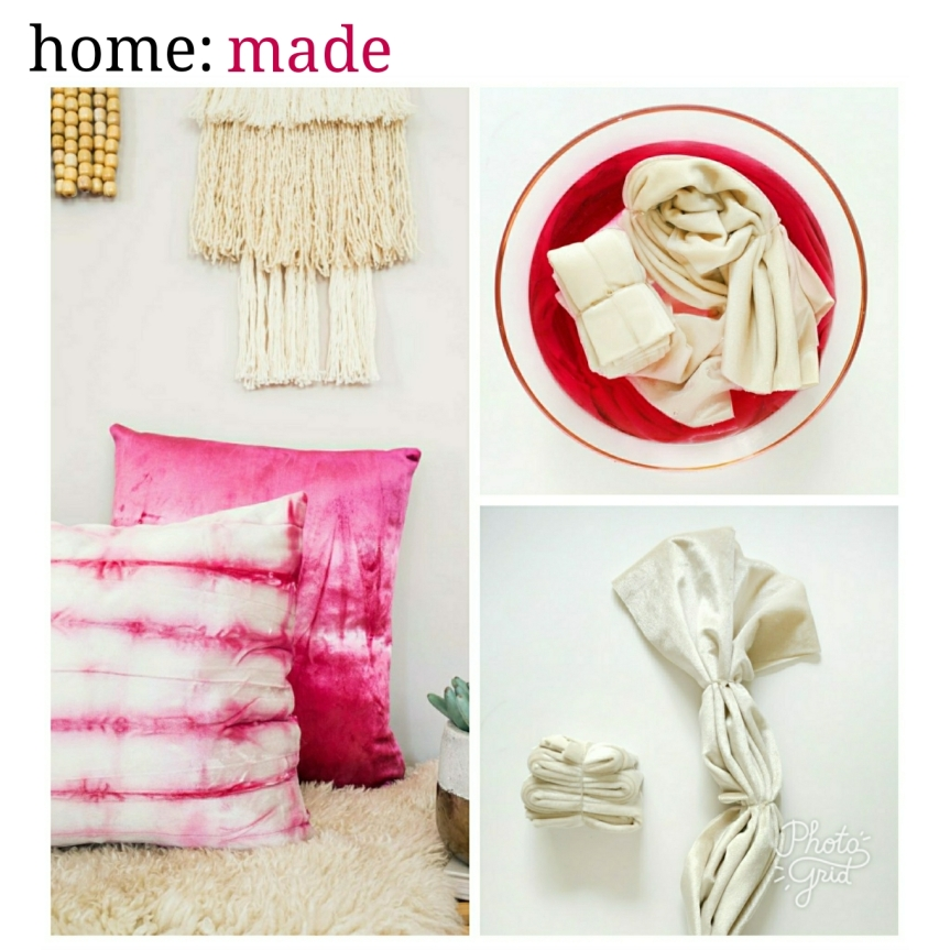 home: made [ tie dye cushion ]