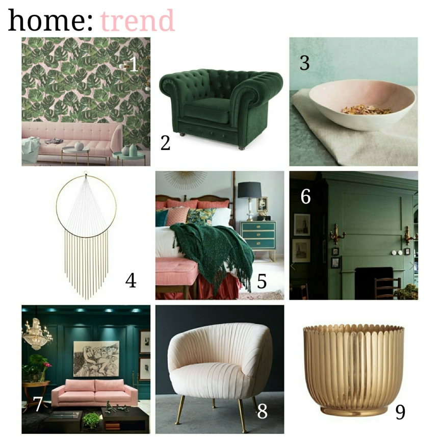 home: trend [ green & pink ]