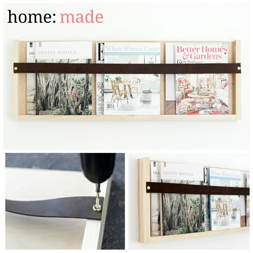 home: made [ magazine shelf ]