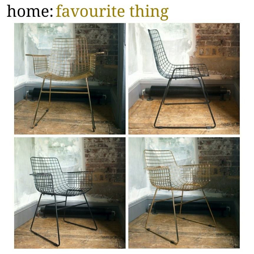 home: favourite thing [ wire chair ]