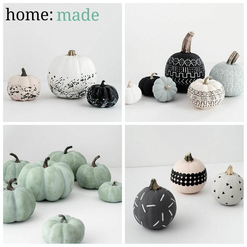 home: made [ painted pumpkins]