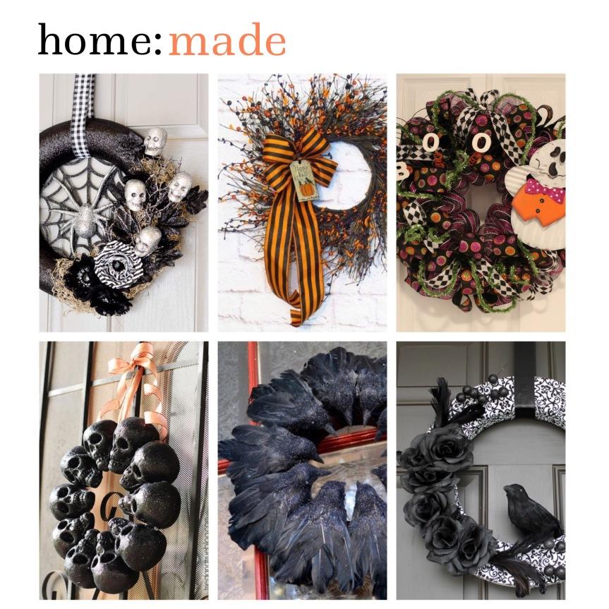 home: made [ Halloween wreaths ]