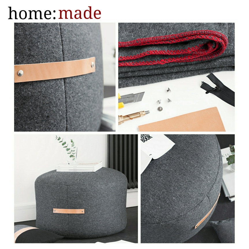home: made [ felt pouf ]