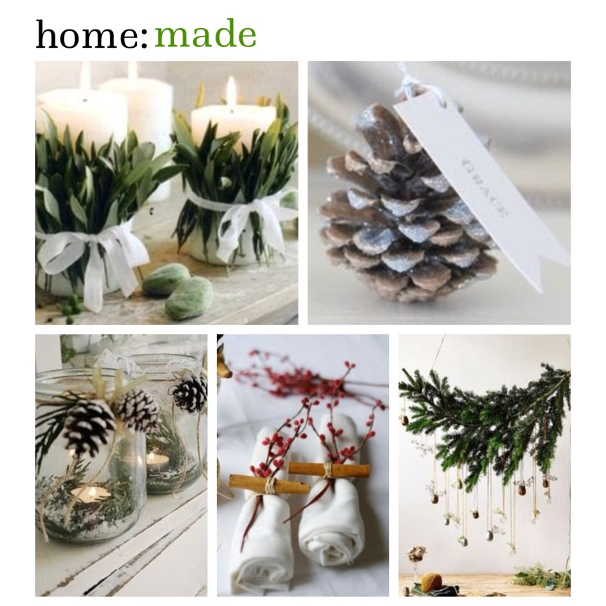 home: made [ Christmas table decorations]