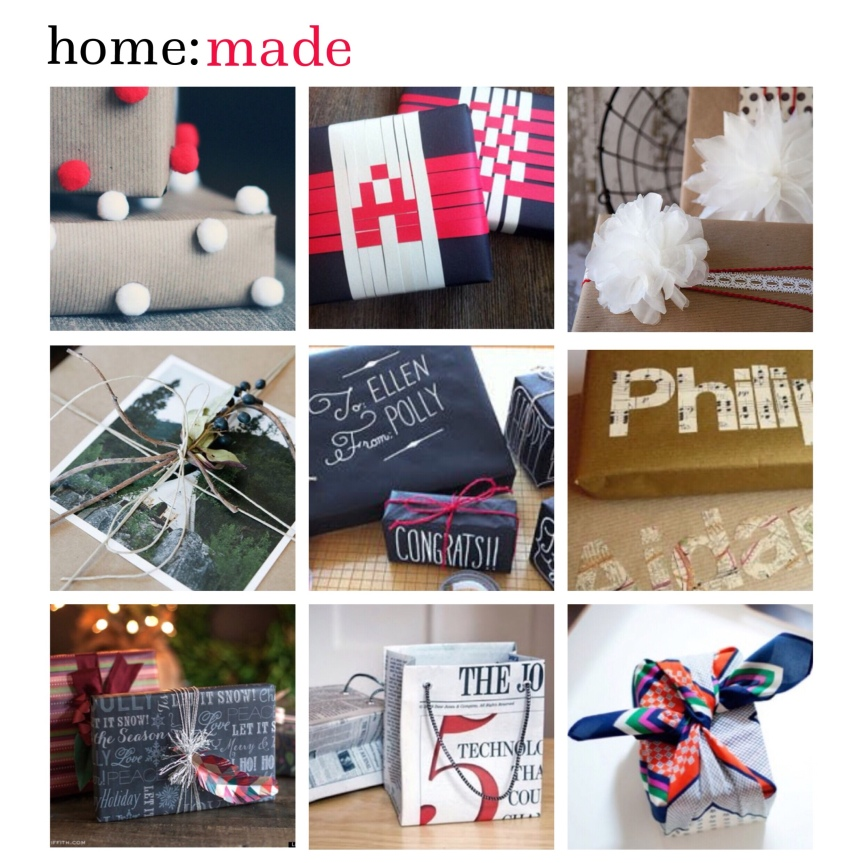 home: made [ Christmas wrapping paper]