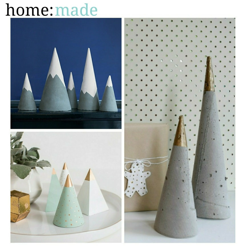 home: made [ concrete Christmas tree ]