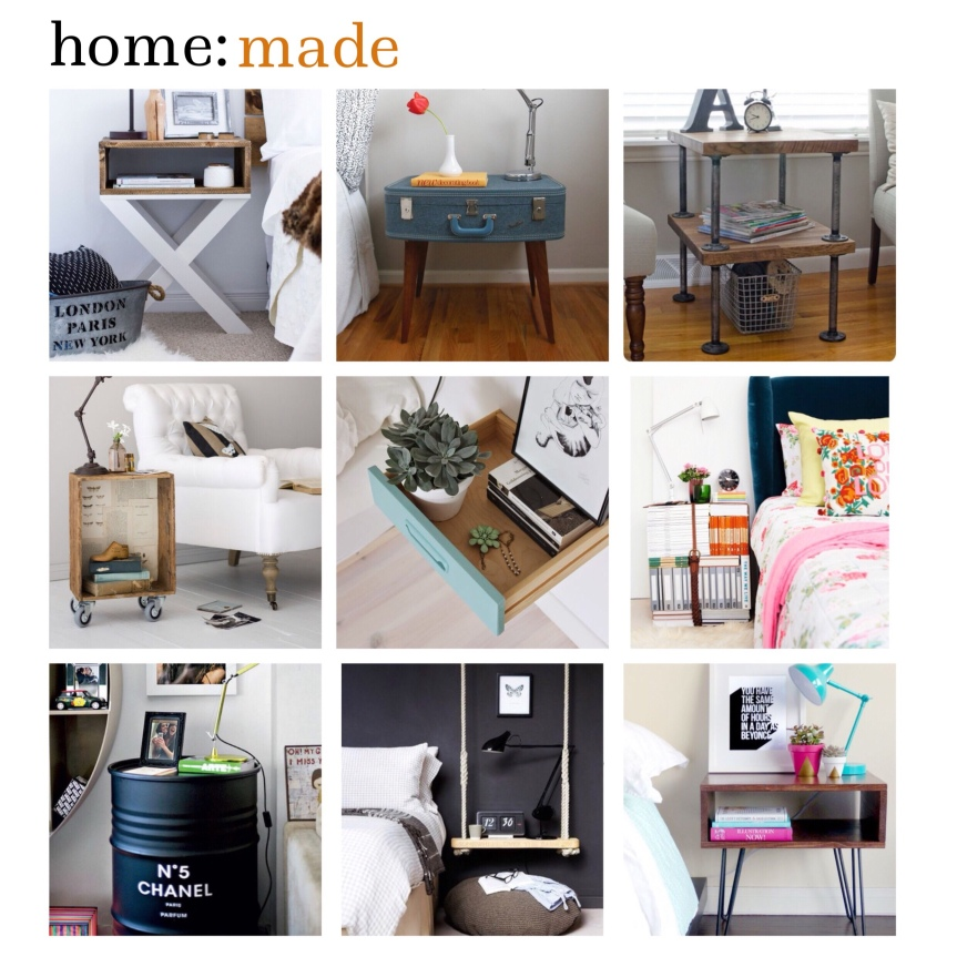 home: made [ bedside table ]