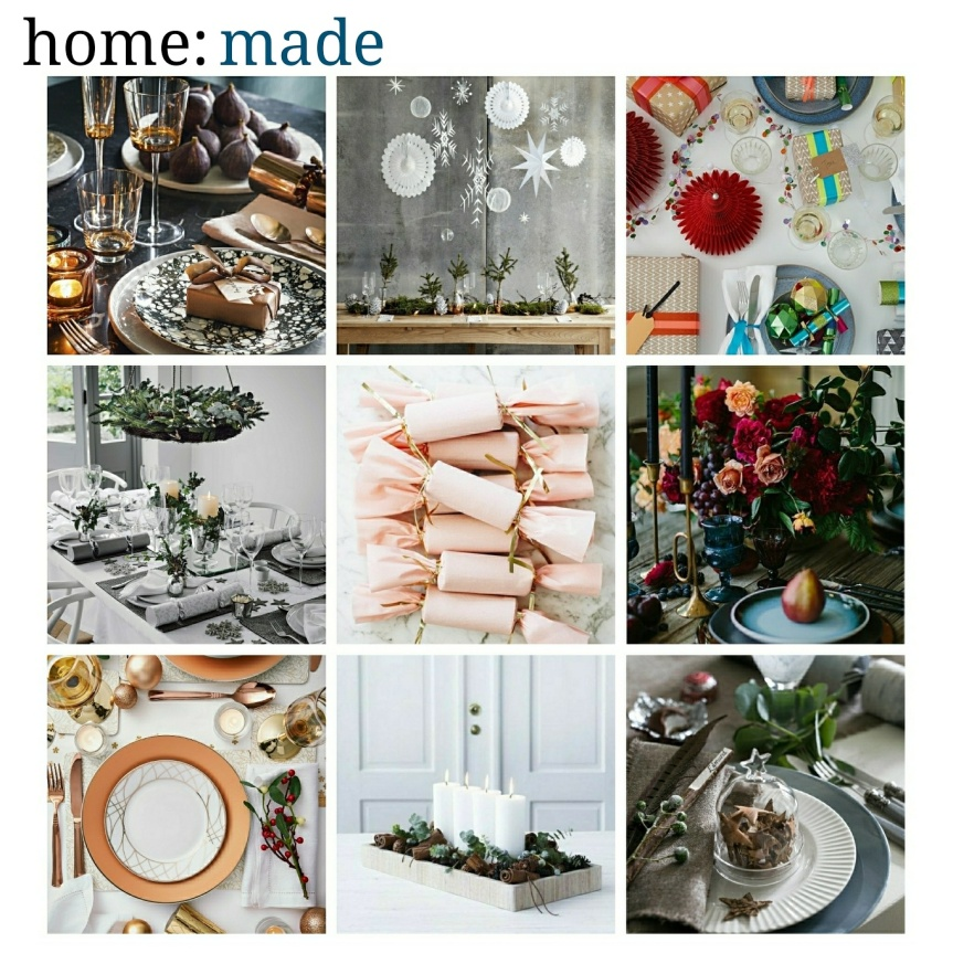 home: made [ Christmas table ]