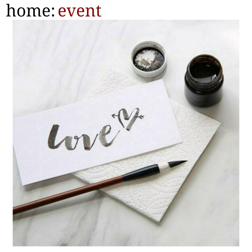 home: event [ brush letrering workshop ]