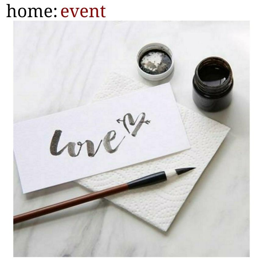 home: event [ brush letrering workshop]