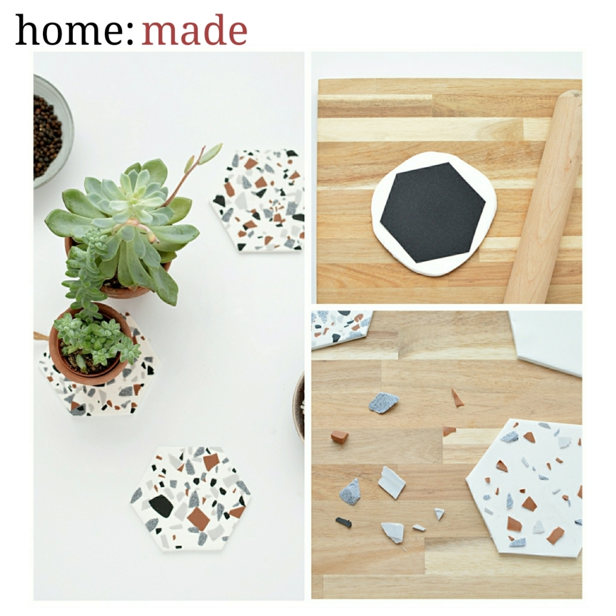 home: made [ terrazzo mini serving boards ]