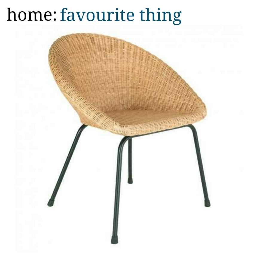 home: favourite thing [ rattan chair ]