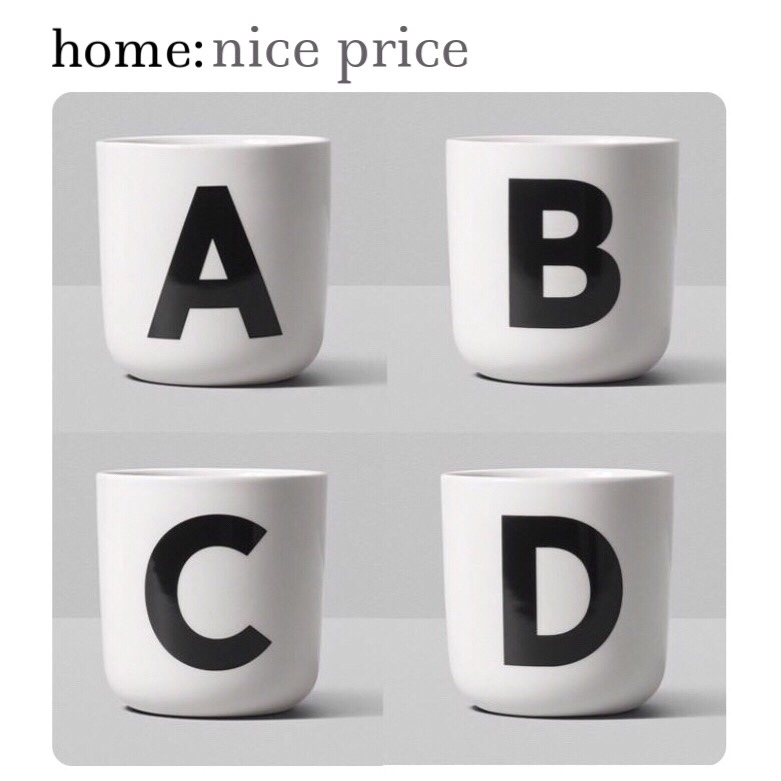 home: nice price [ alphabet mugs ]