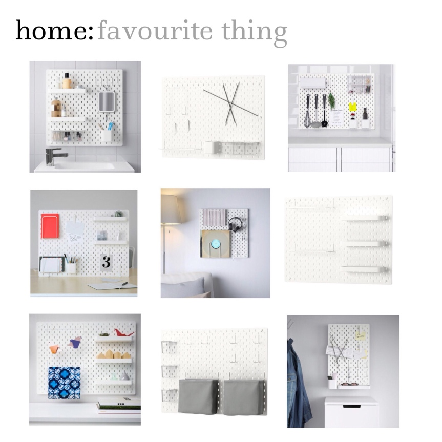 home: favourite thing [ pegboard ]