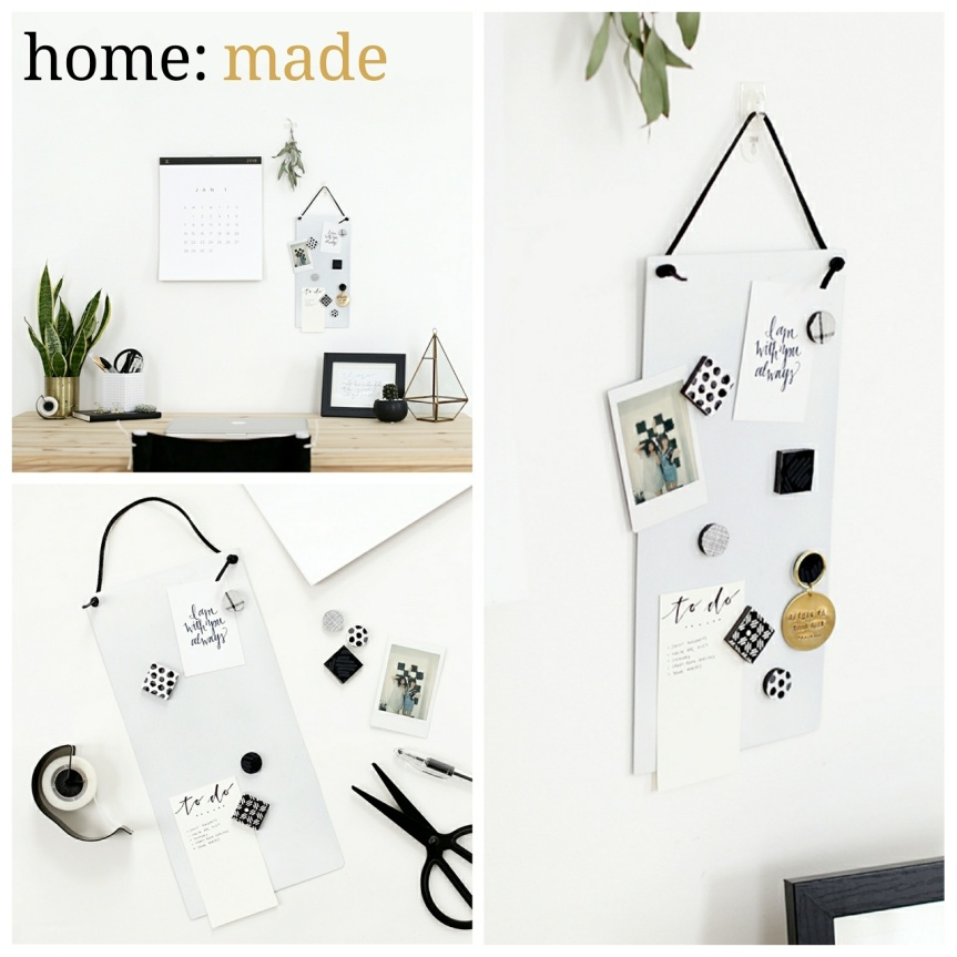 home: made [ magnetic memo board]