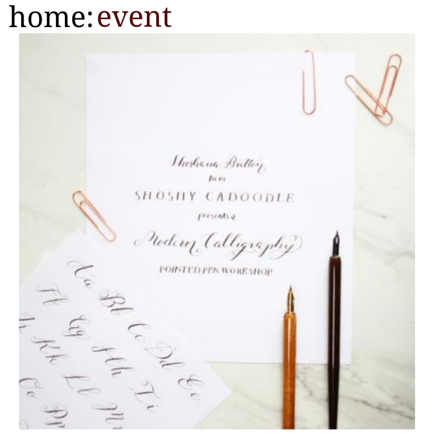 home: event [ modern calligraphy ]