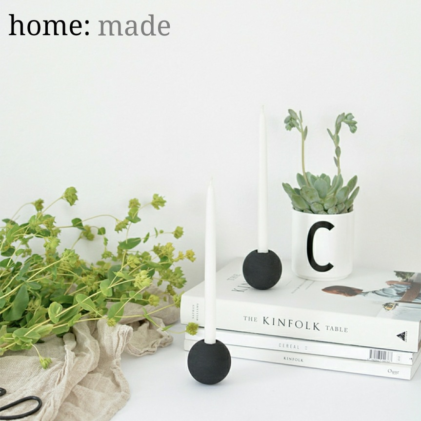 home: made [ candle holder]