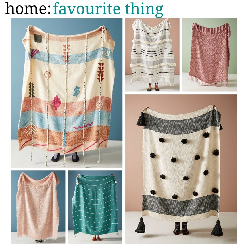 home: favourite thing [ throws ]