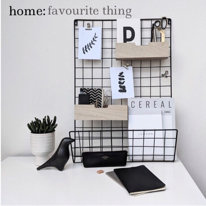 home: favourite thing [ memo rack]