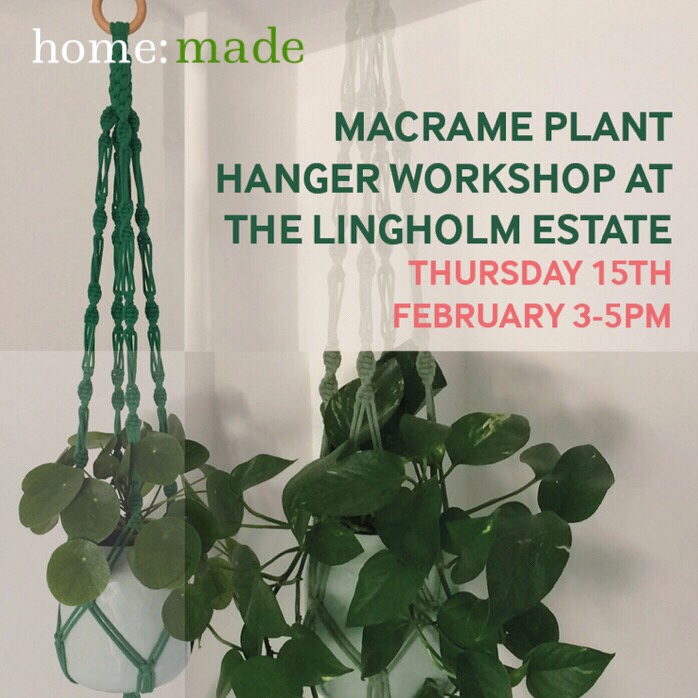 home: made [ DIY macrame workshop ]