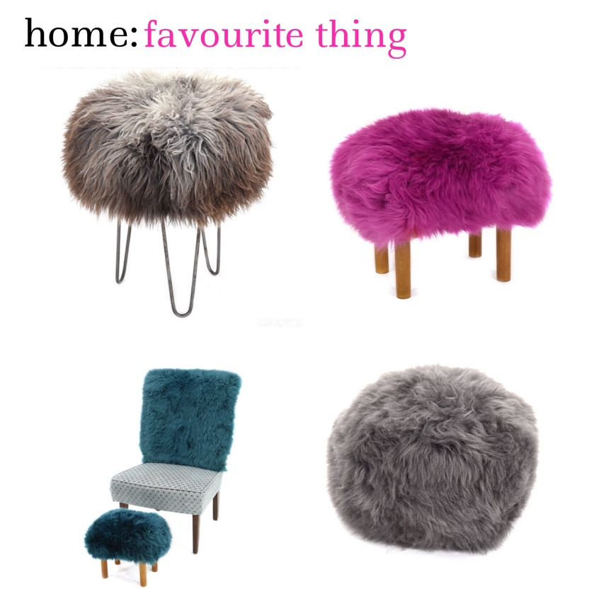 home: favourite thing [ sheep skin furniture]