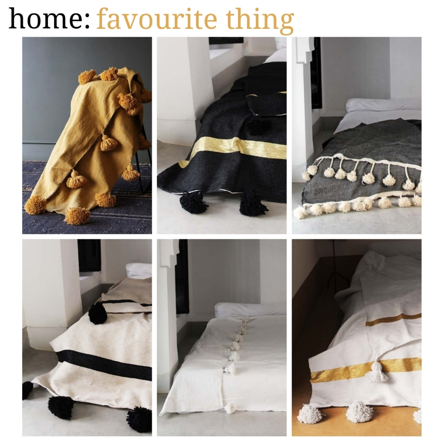 home: favourite thing [ pom pom blankets ]