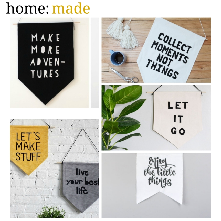 home: made [ hanging banners ]