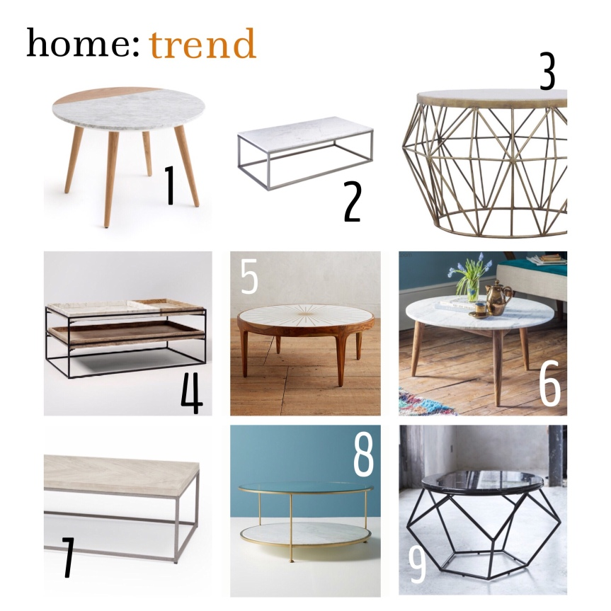home: trend [ marble coffee tables ]