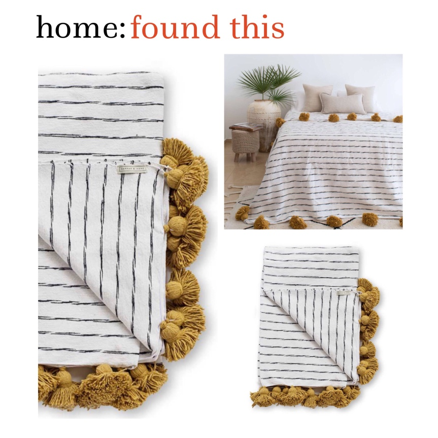 home: found this [ pom pom blanket ]