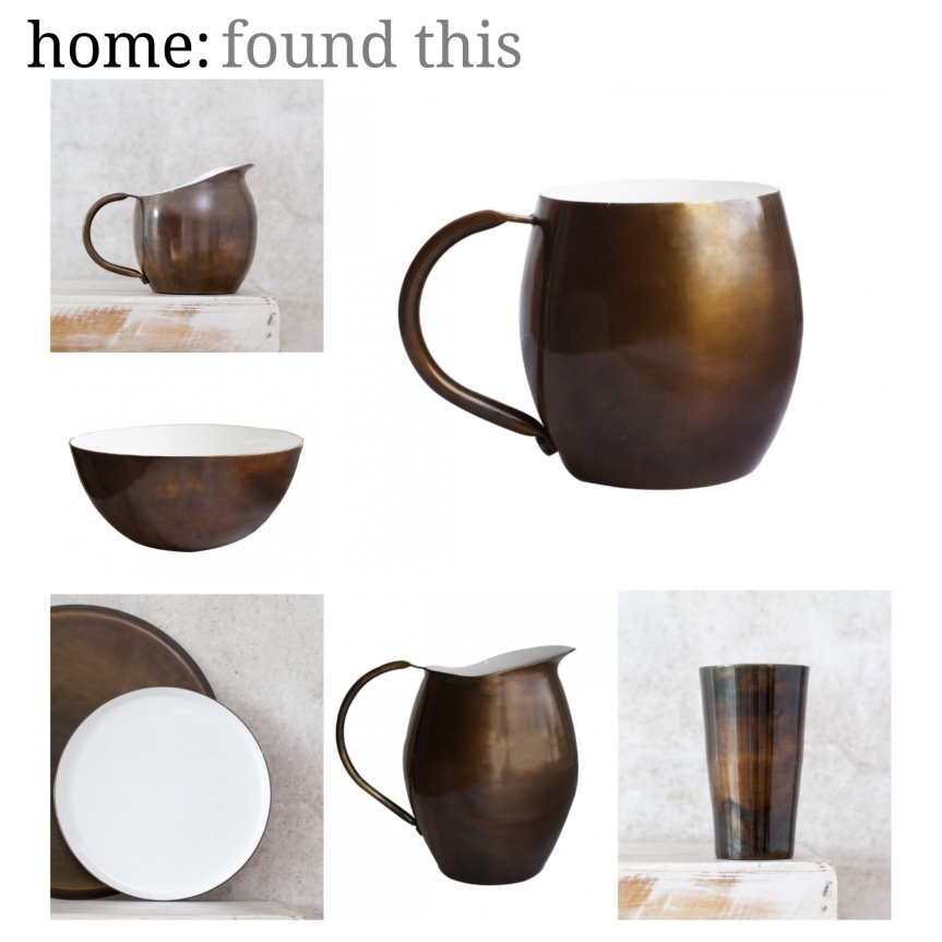 home: found this [ brass tableware ]