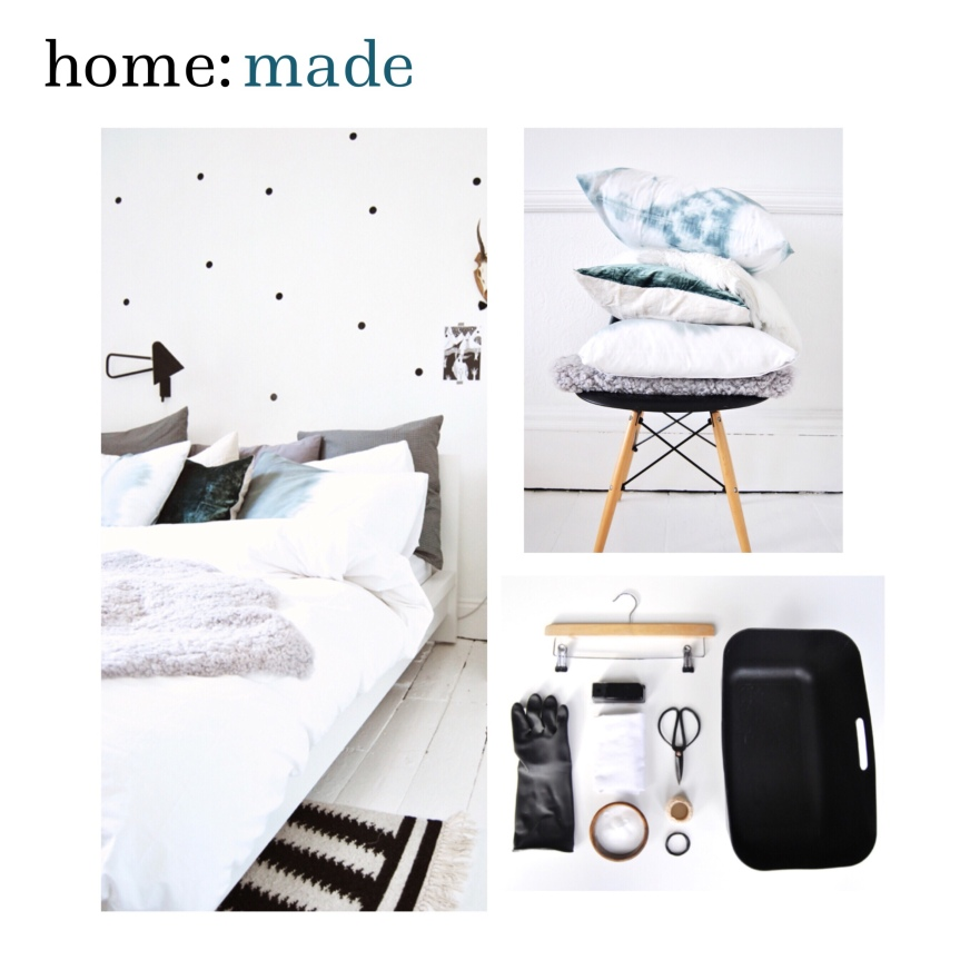 home: made [ dying bed linen ]