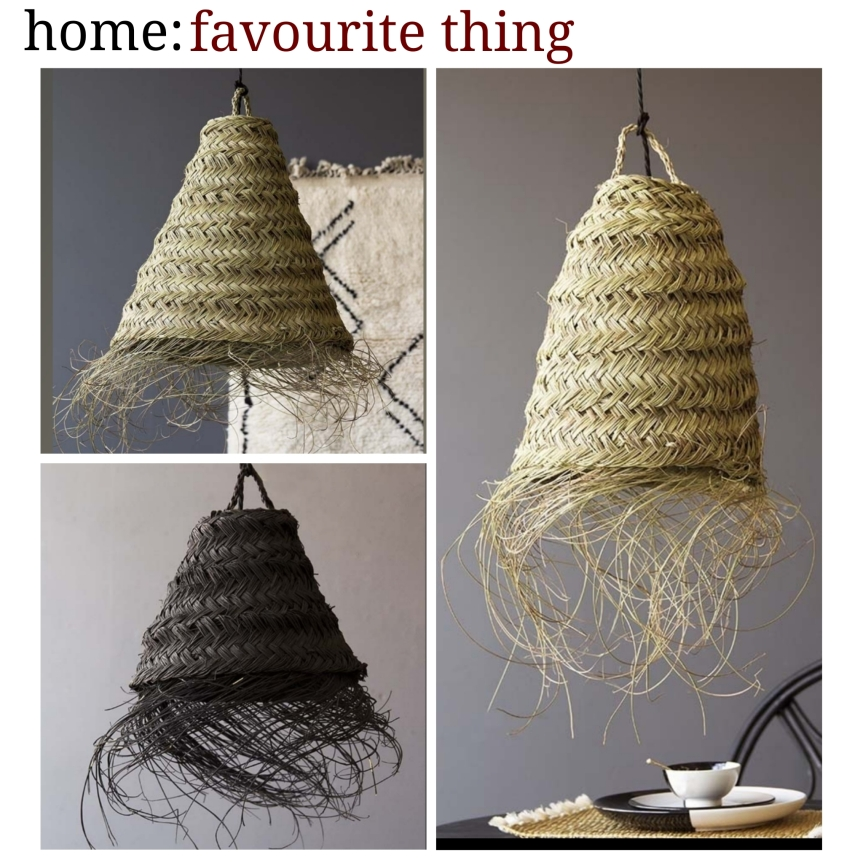 home: favourite thing [ straw lamp shades ]