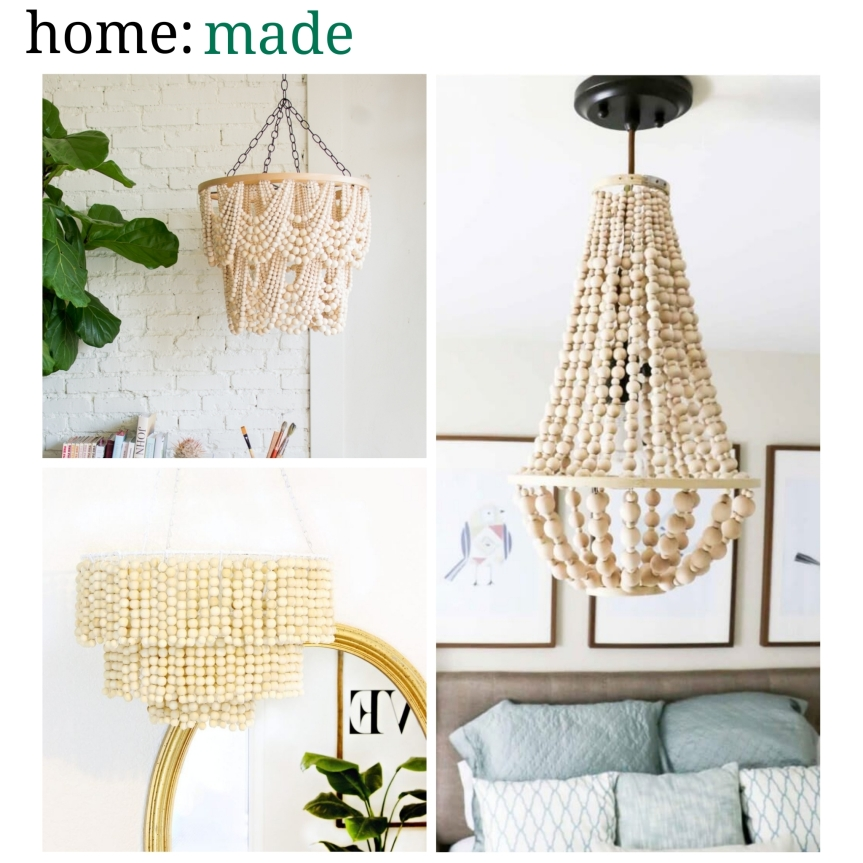 home: made [ beaded chandeliers ]