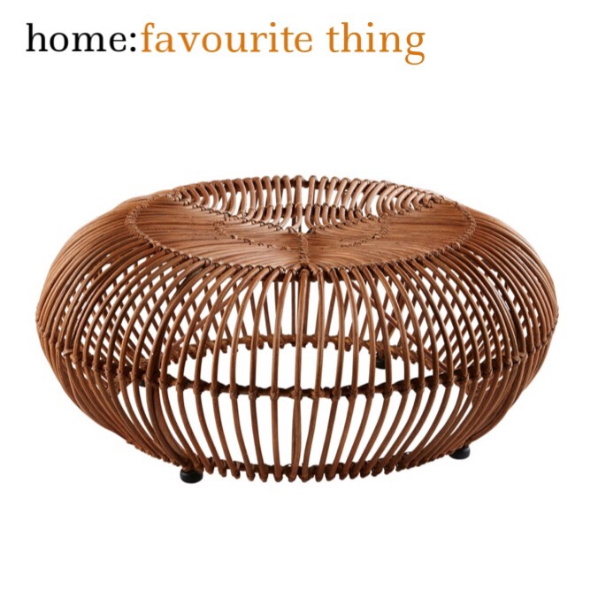 home: favourite thing [ rattan pouffe ]