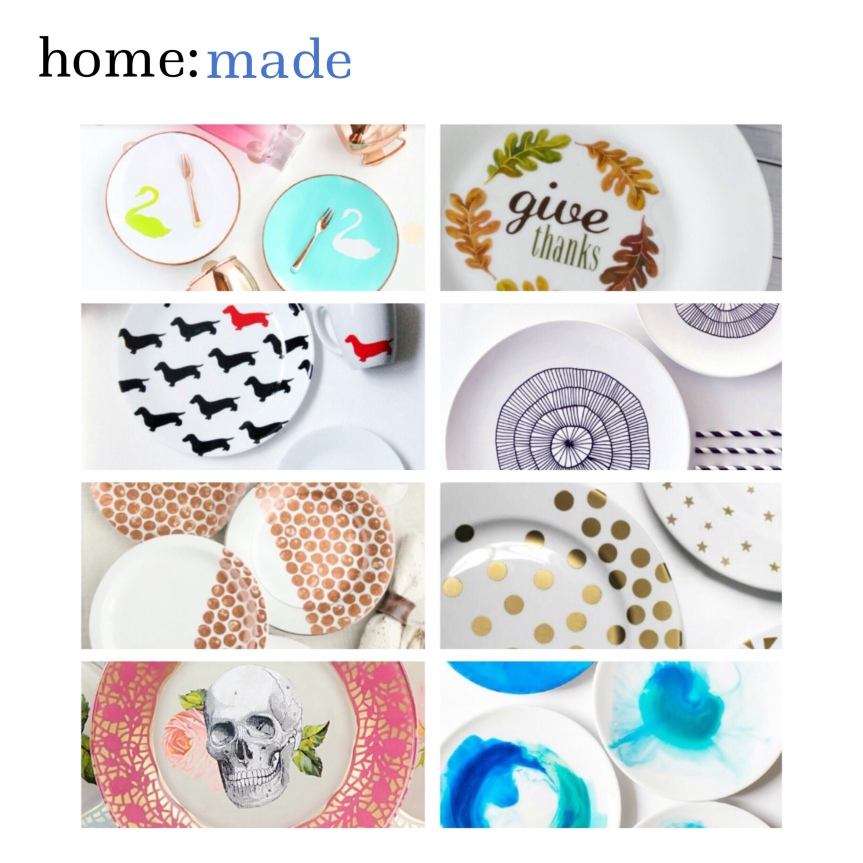 home: made [ painted plates ]
