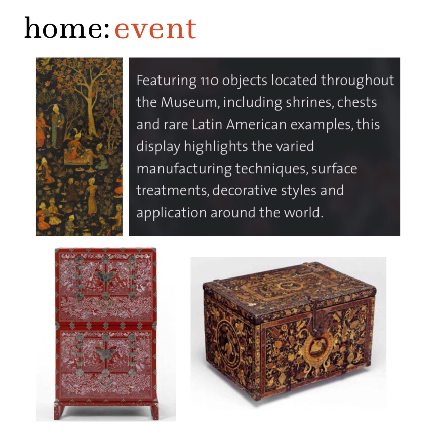 home: event [ lustrous surfaces ]