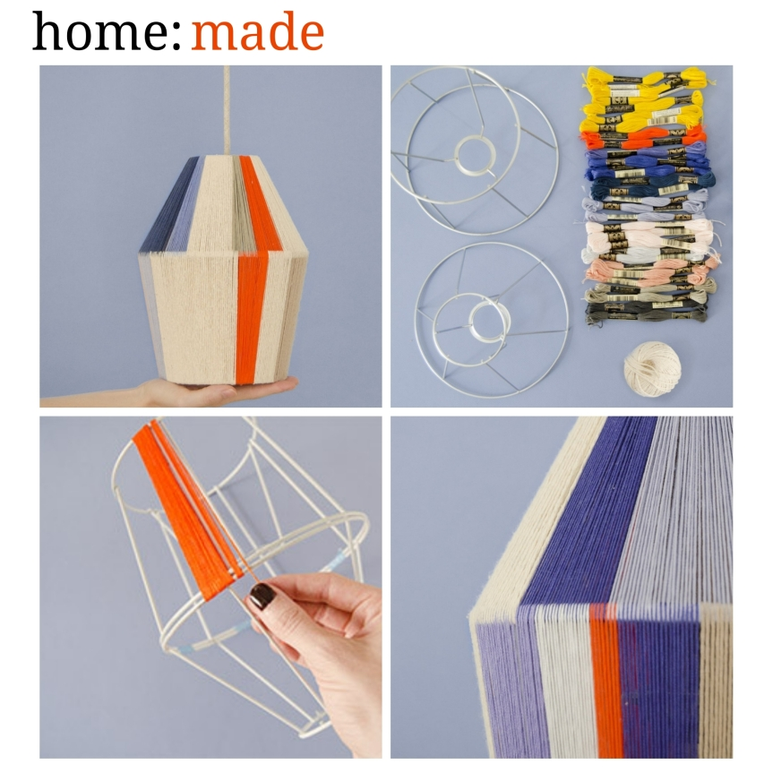 home: made [ woven lamp]