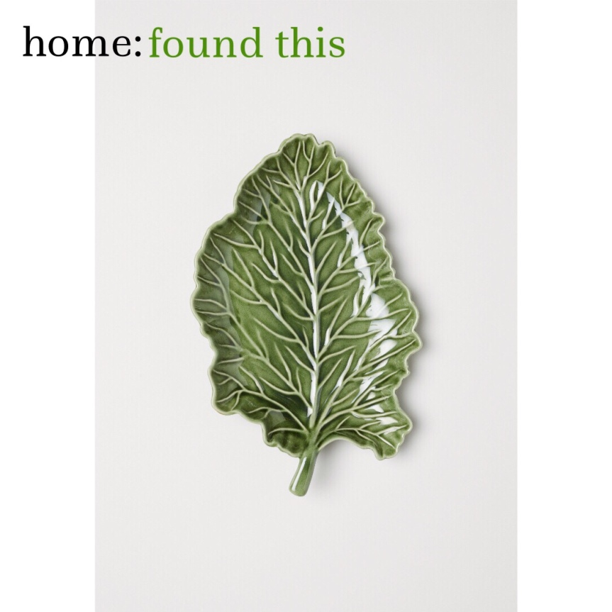 home: found this [ leaf plate ]