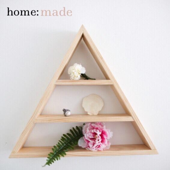 home: made [ triangle shelf]