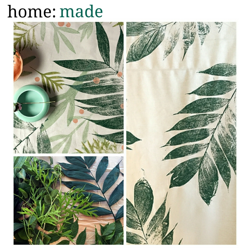 home: made [ leaf printed fabric ]