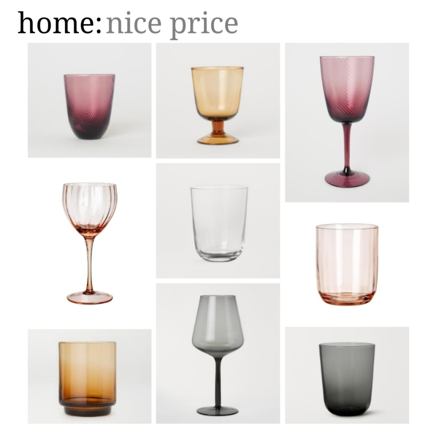 home: nice price [ glassware ]