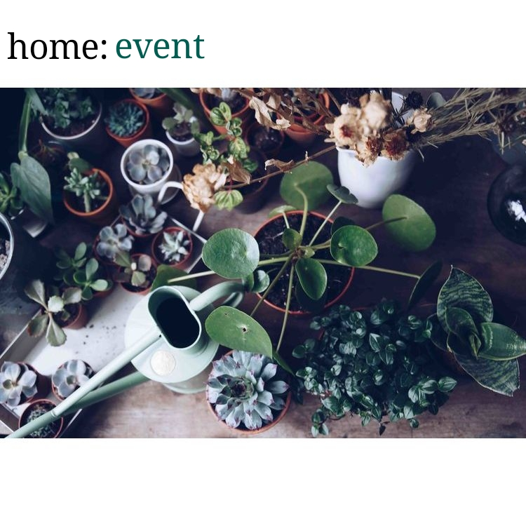 home: event [ Happy Houseplants Workshop ]