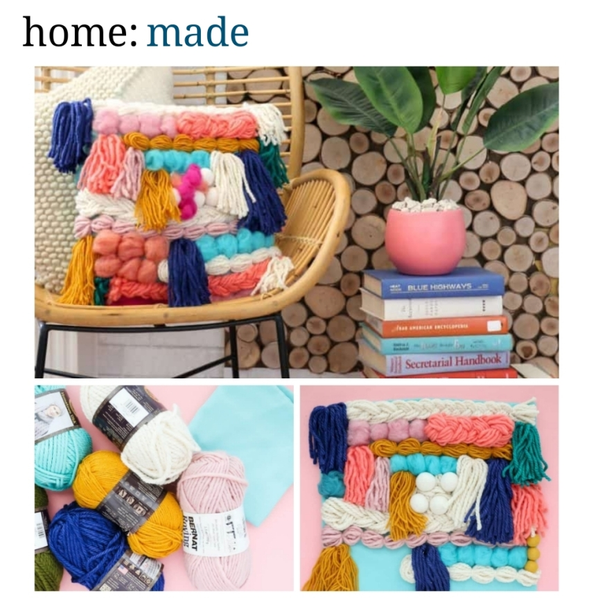 home: made [ faux woven cushion ]