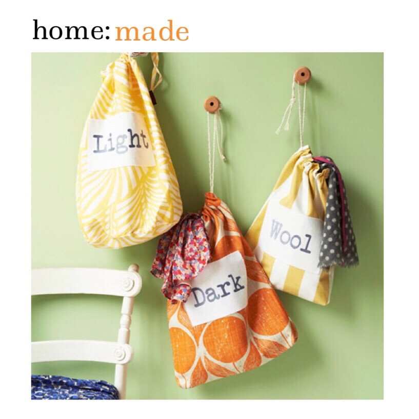 home: made [ laundry bags ]